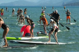The O'Neill Fall Classic, a 22-mile stand-up paddleboard race from Camp Richardson in South Lake Tahoe to Kings Beach, will take place Sunday.