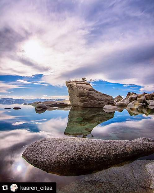 Good morning friends! We are halfway through the week, so hang tight! Here is a shot of Bonsai Rock. Submitted using #TahoeSnaps.