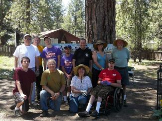 As part of an ongoing service project, members of the Kiwanis Club of Tahoe Sierra and the Lake Tahoe Kiwanis Aktion Club participated in an annual spring cleanup of the Al Tahoe Historical Cemetery on June 7.