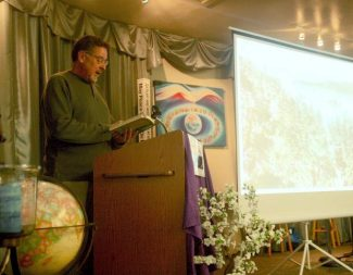 "Author Michael Makley talks about his new book ""Saving Lake Tahoe: An Environmental History of a National Treasure"" at a Tahoe Area Sierra Club meeting Thursday."