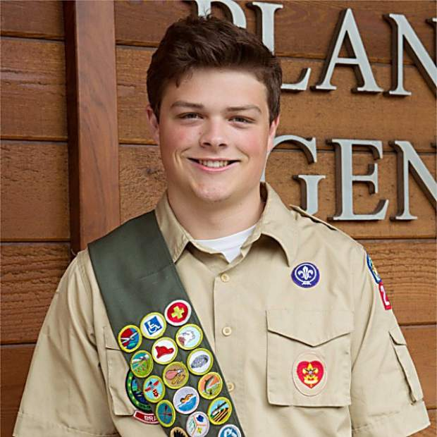 Eagle Scout Cyrus Miller won a TRPA Spirit Award for work organizing the removal of an old pipe obstructing the shoreline near Tahoe City.