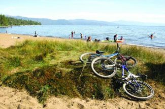 Biking,, volleyball and paddling are all available at Kings Beach.