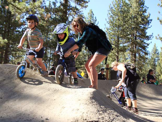 In addition to the expert jump line, the new bike park also includes beginner features appropriate for small children.