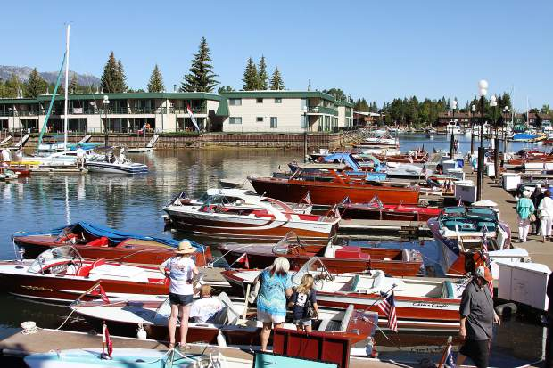 Hundreds turned out for the South Tahoe Wooden Boat Classic at the Tahoe Keys Maria on Saturday.
