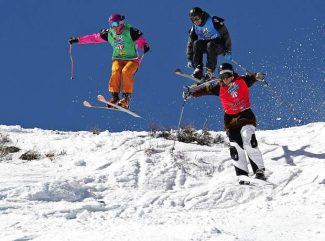 Competitors race at Squaw Valley during a previous Rahlves' Banzai Tour.