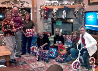 CASA advocates/Santa's elves make sure every child gets what they asked for from Santa. Shown are Pat and George Schultz, from left, Randa Lee Loehrer, Wendy David, Freddie Laurian, Barbara Sourikoff and Mary McKee.