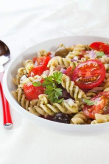 Pasta Salad with Tomatoes and Olives