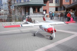 The Desert Research Institute showed off its new cloud seeding drone at Heavenly Village on Jan. 9.