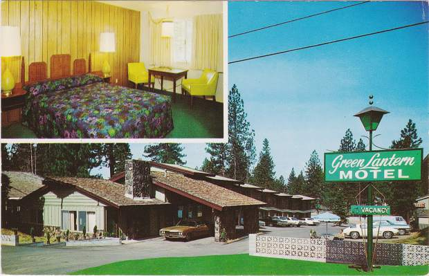 A postcard (above) shows the old Green Lantern Motel, now the renovated Coachman Hotel. Owners turned the original front desk check-in into a three bedroom suite with a living room.