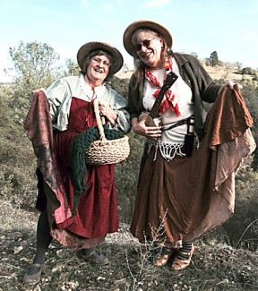 Storytellers B.Z. Smith and Peg Reza perform Wednesday at Dangberg Home Ranch Historic Park.