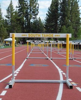 The track at the Community Sports Complex received new striping courtesy of TR4CK.