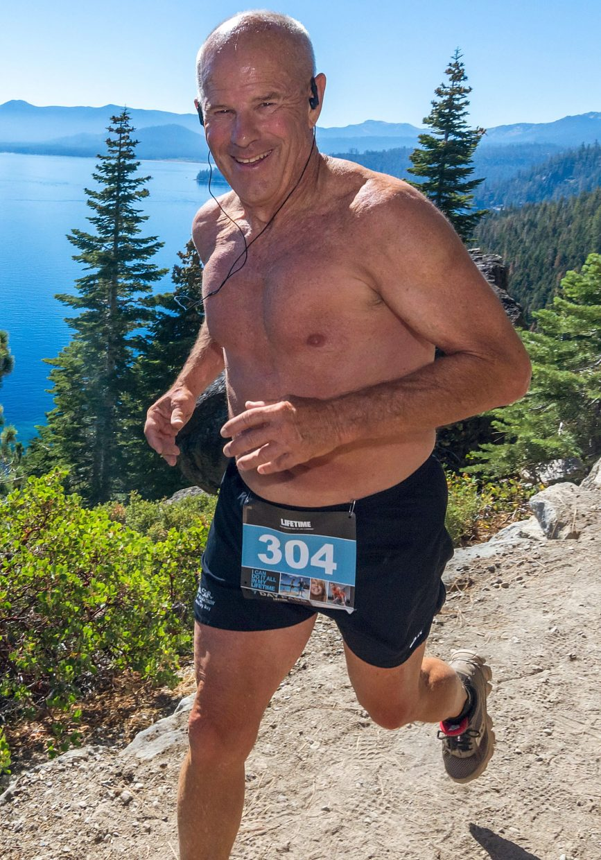 South Lake Tahoe's Pat Pohl ran to a first-place finish in the 70-and-older age group Sunday.