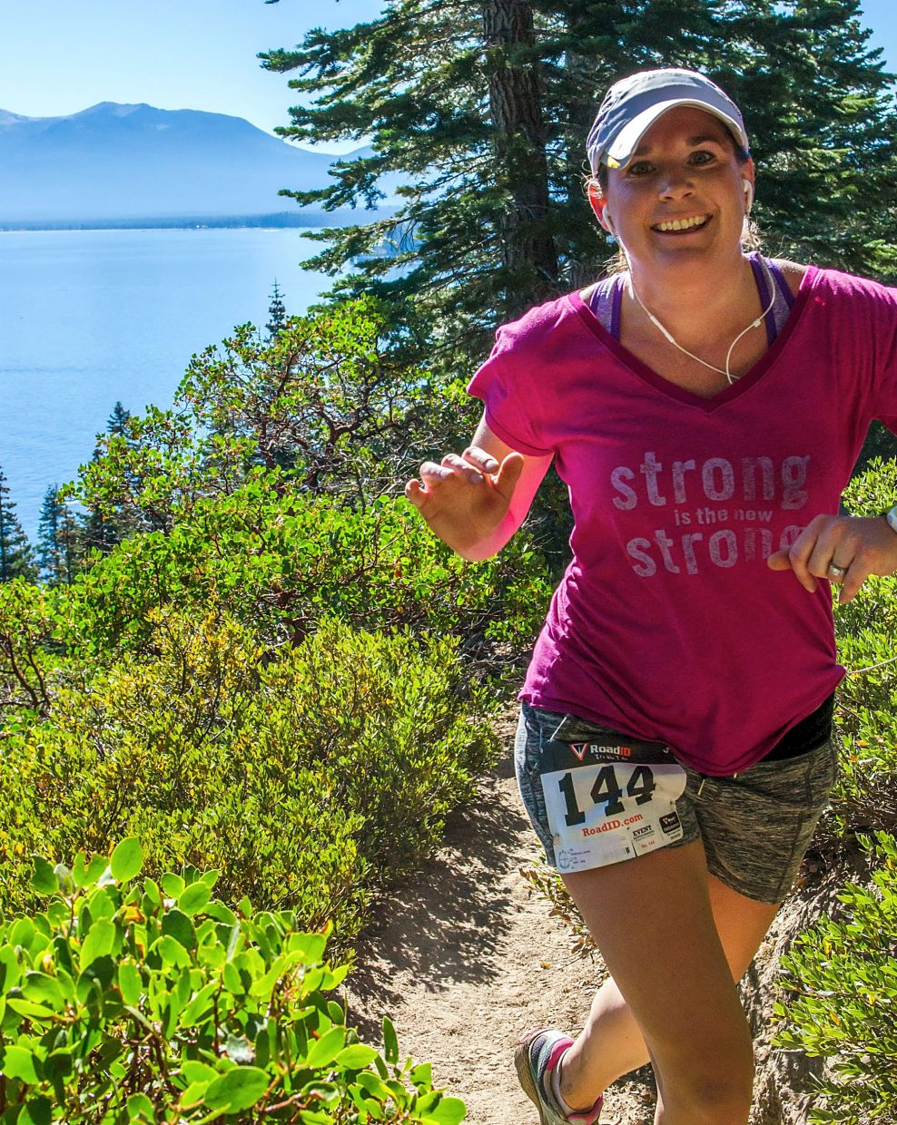Launa Henderson of South Lake Tahoe smiles while on the trail Sunday.
