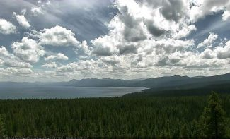 This image was taken from a fire monitoring camera in North Lake Tahoe.
