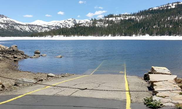 Mac the naw checking in on alpine county s higher lakes for Caples lake fishing report