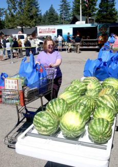 Hungry locals in need are able to pick nutritious food at the farmers' market.
