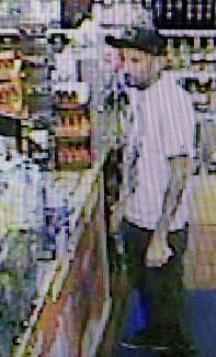 Detectives believe the USA Gas Sation patron, shown in this still taken from surveillance footage, may have information about the homicide that took place Aug. 8. They are asking for the public's help in identifying him.