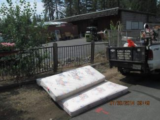 Clean Tahoe project removes debris from illegal dumping. Some businesses, such as thrift stores, are often left with people's trash.