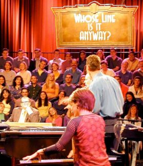 """Laura Hall on """"Whose Line is it Anyway?"""" Provided to the Tribune"""