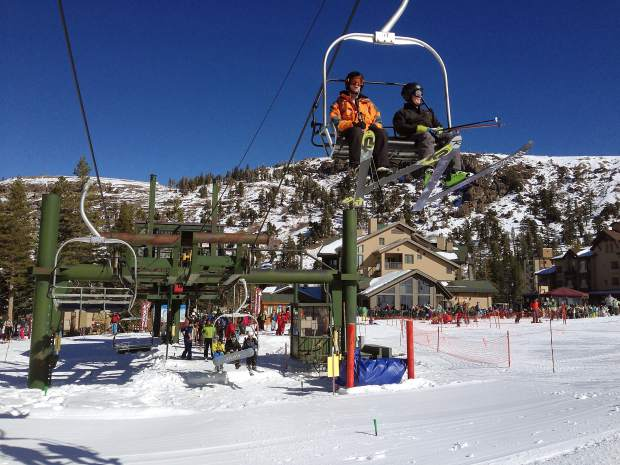 Kirkwood's Chair 5 saw the most interest from skiers and riders on opening day Saturday.