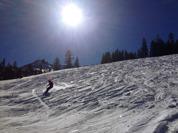 Patches of fresh snow from recent storms could still be found at Kirkwood Mountain Resort Saturday, Nov. 14.