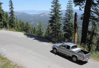 A truck drives up Johnson Pass Road, part of the historic Lincoln Highway, in this file photo.The history of El Dorado County will be the focus of an author's presentation this weekend.