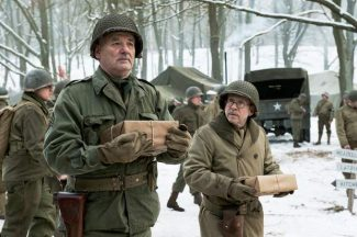 "This image released by Columbia Pictures shows Bill Murray, left, and Bob Balaban in ""The Monuments Men."""
