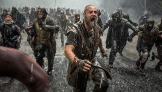 """This image released by Paramount Pictures shows Russell Crowe in a scene from """"Noah."""""""