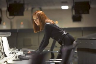 "Scarlett Johansson in a scene from ""Captain America: The Winter Soldier."""