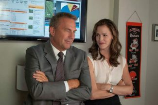 """This image released by Summit Entertainment shows Kevin Costner, left, and Jennifer Garner in a scene from """"Draft Day."""""""