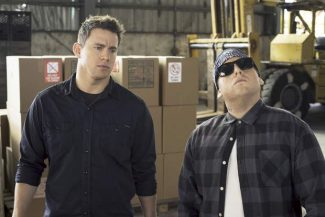 "This image released by Sony Pictures shows Jonah Hill, right, and Channing Tatum in Columbia Pictures' ""22 Jump Street."""