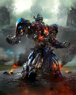 """This photo released by Paramount Pictures shows Optimus Prime in the film, """"Transformers: Age of Extinction."""""""