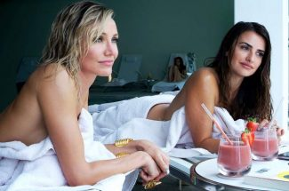 "Cameron Diaz, left, as Malkina, and Penelope Cruz, as Laura, in the film, ""The Counselor."""