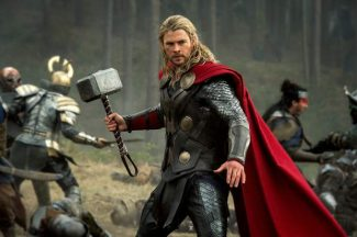 """This publicity photo released by Walt Disney Studios and Marvel shows Chris Hemsworth in a scene from """"Thor: The Dark World."""""""