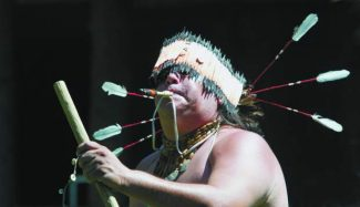 A Washoe dancer performs at a previous Wa-She-Shu It'Deh Native American Festival.