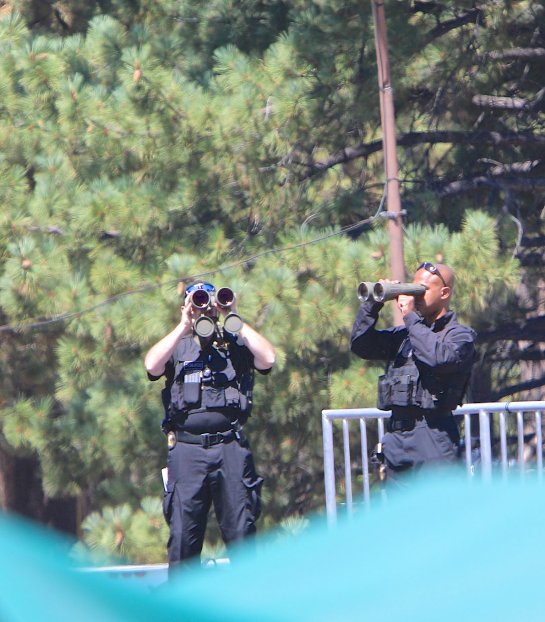 Security was tight at the Lake Tahoe Summit Wednesday in Stateline.