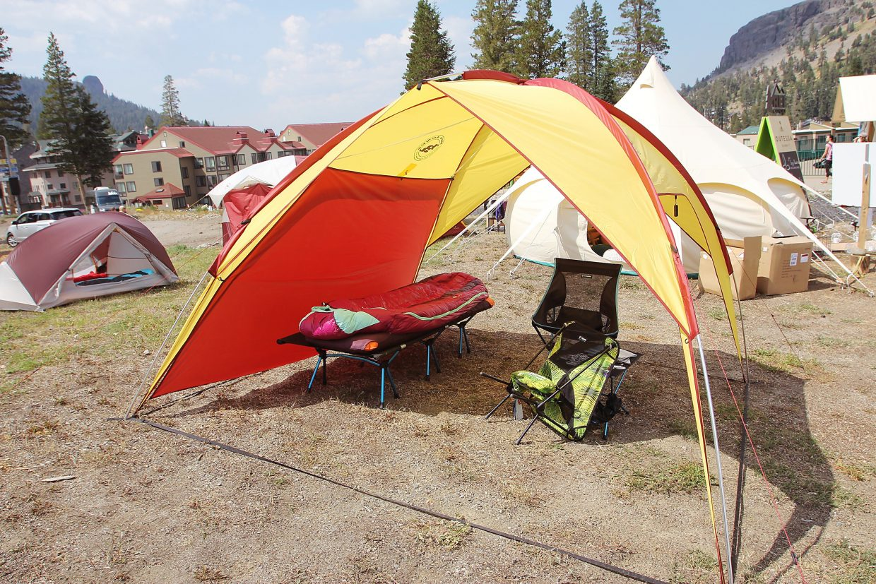 Big Agnes offered classes teaching women how to pitch a tent and backcountry camp.
