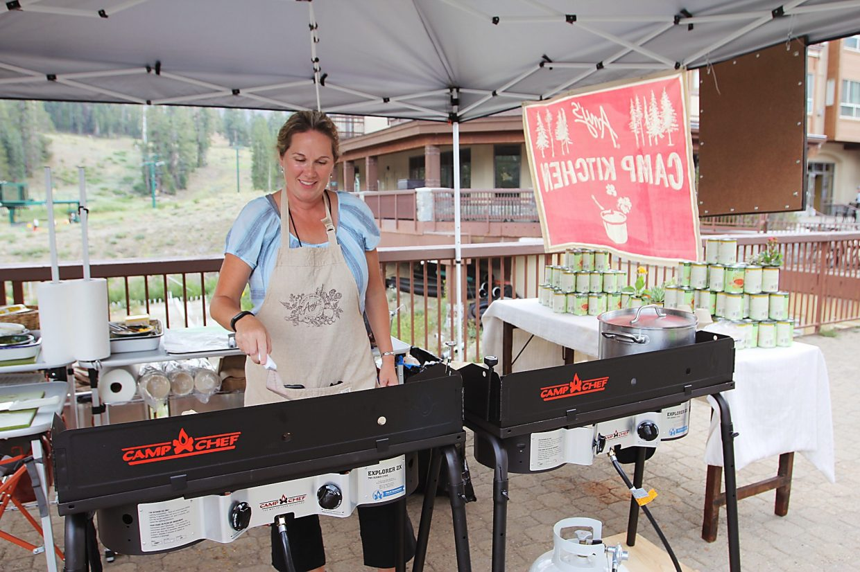 Amy's, an organic cafe, provided home-made quesadillas and soup for women to grab on the go.