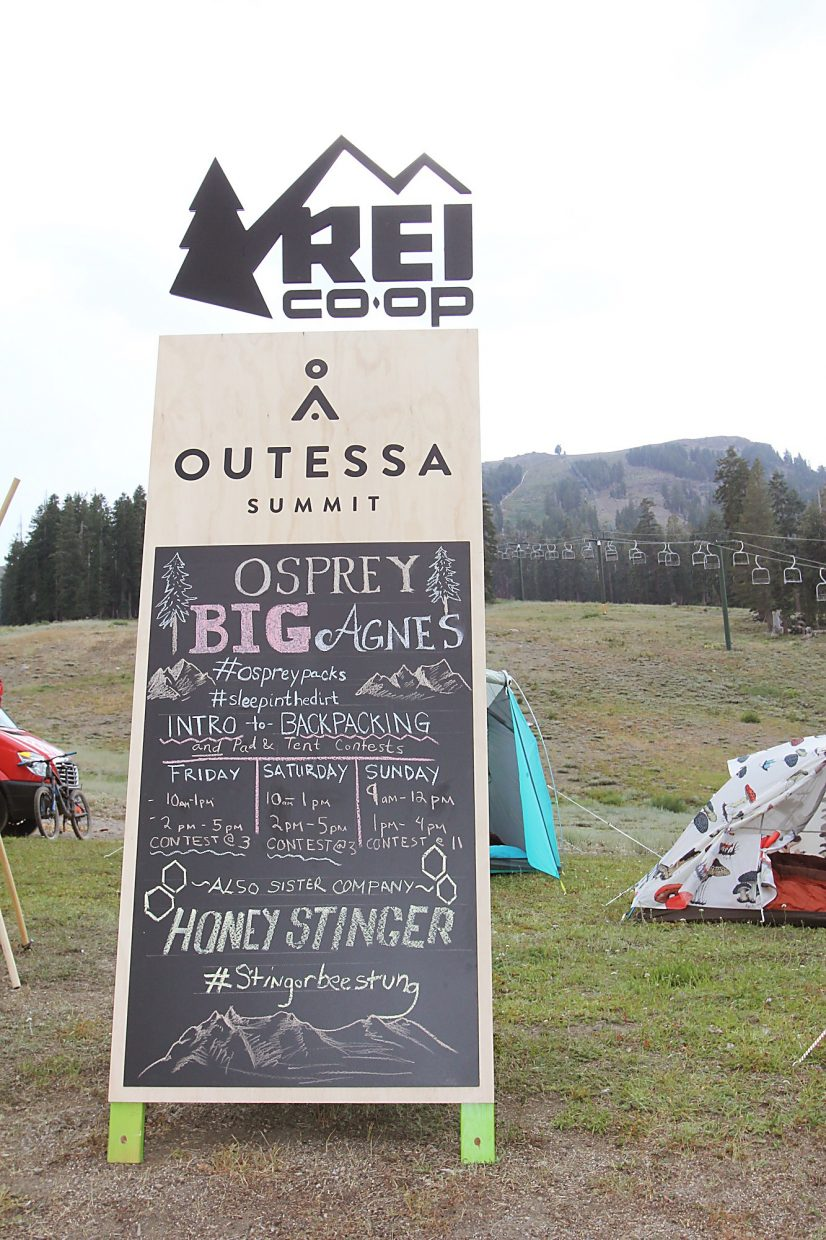 """A sample of classes offered by Osprey and Big Agnes includes """"Intro to Backpacking"""" and multiple contests."""