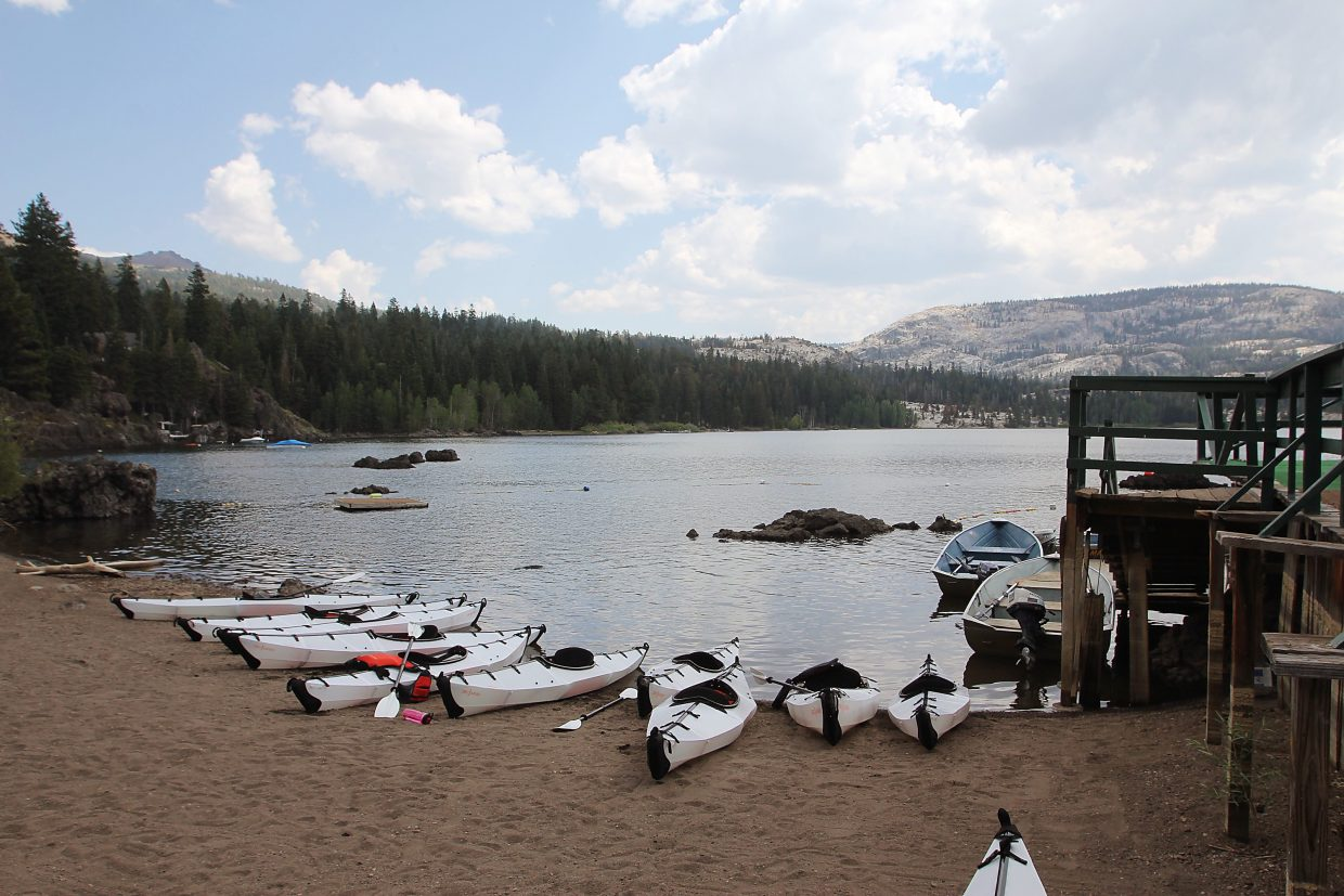 The aftermath of a 2-hour kayaking class at Silver Lake.
