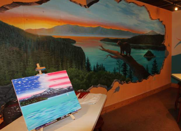 paint and sip celebrates two years on tahoe s south shore