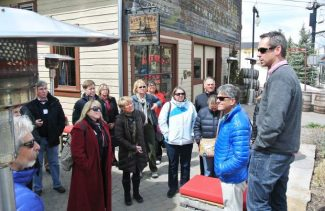 A group from the Lake Tahoe Basin visits with leaders in Park City, Utah, last week.