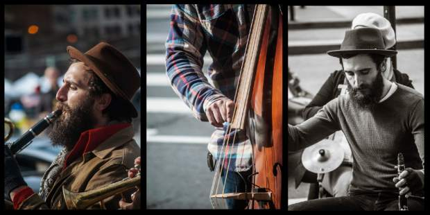Street performers play in downtown San Francisco.