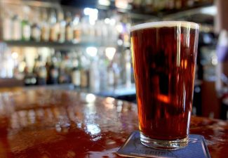 A beer sits on the bar at Gunbarrel Tavern & Eatery on Friday. Gunbarrel will host a two-day pub crawl around Heavenly Village on Nov. 1 and 2.