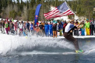 A great American classic, the pond skim, comes back to Northstar California this week.