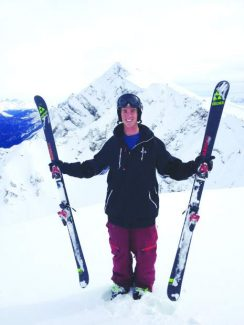Kyle Smaine at slopes in Rosa Khutor, Russia, last winter during a World Cup event that served as an Olympic test run.