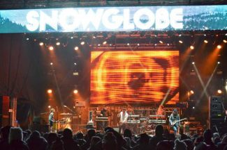 Hundreds of people watch Holy Ghost! at SnowGlobe 2013 this past December.