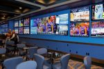 The sports book at Hard Rock Hotel and Casino Lake Tahoe has 31 televisions, and the centerpiece is a video wall that features in-play wagering.