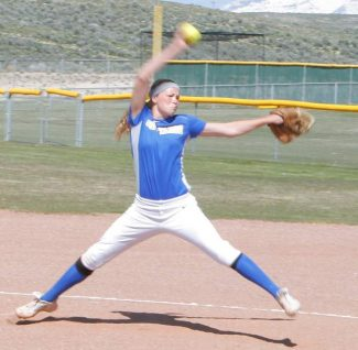 South Tahoe's Kendra Conard pitched two complete games during the three games series with Spring Creek over the weekend.