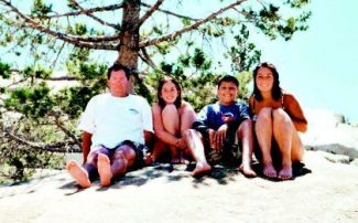 The Koskin family - from left, David, Kendra, Michael and Tracy - is seen on a hiking trip near Silver Lake.